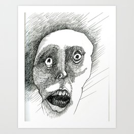 Afraid of What You're Made of. Art Print