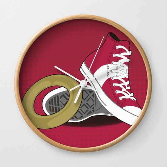 Sonic Converse - Red Wall Clock