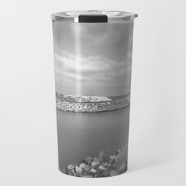 Flying Birds Over Caspian Sea Travel Mug
