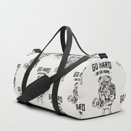 Go Hard or Go Home English Bulldog Duffle Bag