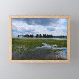 Yellowstone Lake At Pelican Creek Framed Mini Art Print