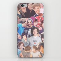 larry stylinson iPhone & iPod Skins featuring Harry and Louis - Larry Stylinson by Troy Abed