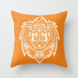 Georges the lion Throw Pillow