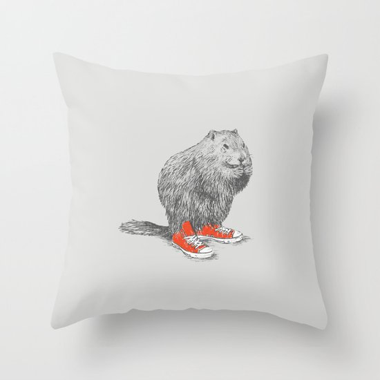Woodchucks Throw Pillow