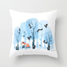 Squinjas! Throw Pillow