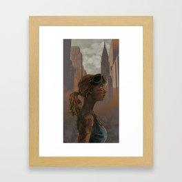 Crow Warrior Framed Art Print