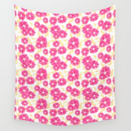 12 Sketched Mini Flowers Wall Tapestry