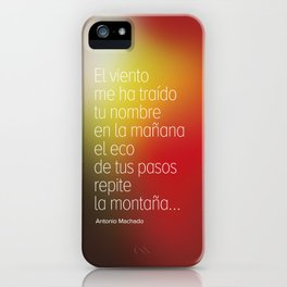 Poetry #2 Antonio Machado iPhone Case