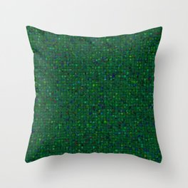 Antique Texture Emerald Green Throw Pillow
