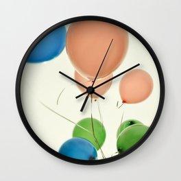 coloredl balloons Wall Clock