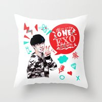 exo Throw Pillows featuring EXO WE ARE ONE! Lay Version by Haneul Home