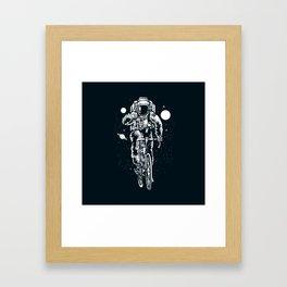 Crazy Astronaut Framed Art Print