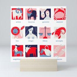 MidMod Zodiac Mini Art Print