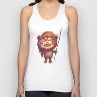 ewok Tank Tops featuring Wicket the ewok by Nathalie Vessillier
