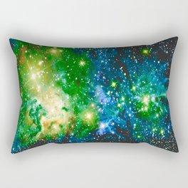 Fox Fur Nebula Teal Green Rectangular Pillow