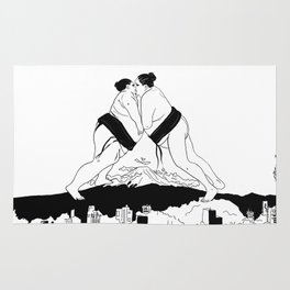 sumo time Rug