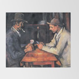 Paul Cézanne - The Card Players Throw Blanket