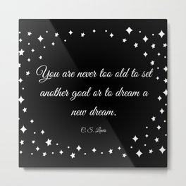 C.S. Lewis Dreams Metal Print