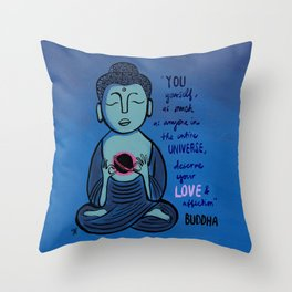 Buddha Quote1 Throw Pillow