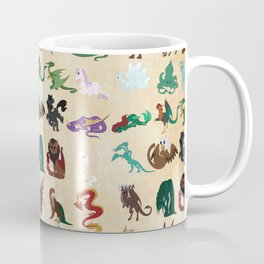 Mythical Creatures Pattern Coffee Mug