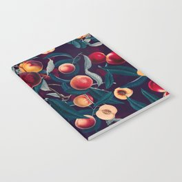 Nectarine and Leaf pattern Notebook