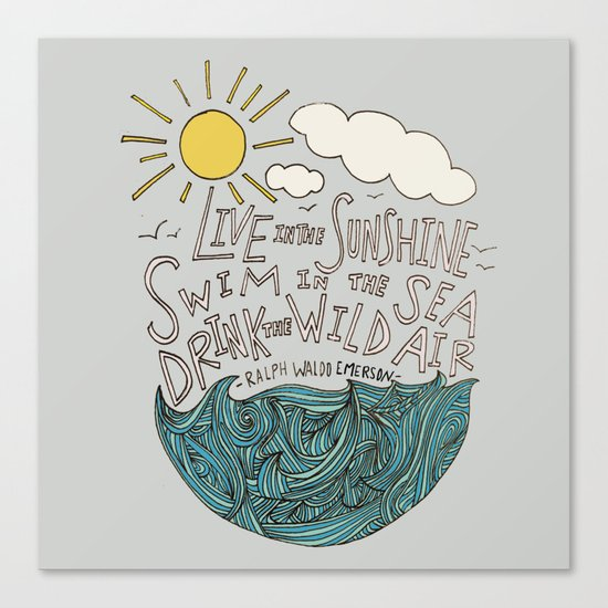 Emerson: Live in the Sunshine Canvas Print