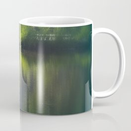 turtle swimming away at Trojan pond, near Goble, Oregon Coffee Mug