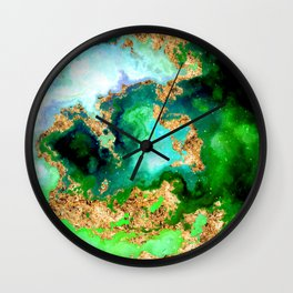 100 Starry Nebulas in Space 011 (Square) Wall Clock