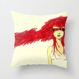 Red Target Throw Pillow