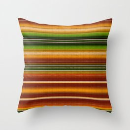 Mexican serape #1 Throw Pillow