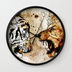 Lion vs Tiger Wall Clock