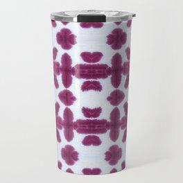 Maroon Pima Shibori Travel Mug