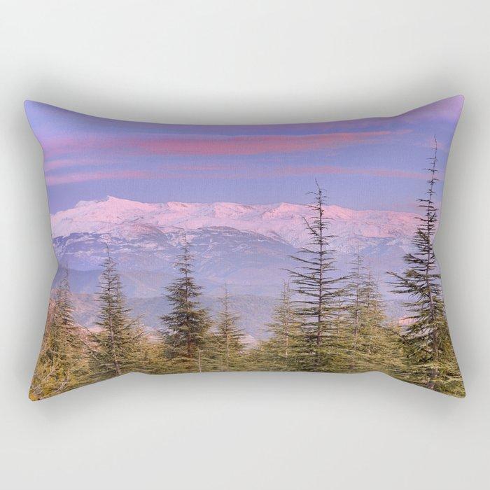 """""""At the mountains"""" Rectangular Pillow"""