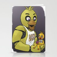 fnaf Stationery Cards featuring FNAF Chicas by msaibee
