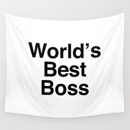 World's Best Boss Wall Tapestry