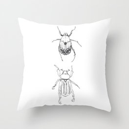 June Beetles Throw Pillow