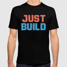 Just Build Black MEDIUM Mens Fitted Tee