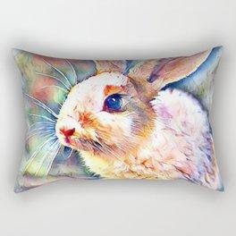 Aquarell Bunny Rectangular Pillow