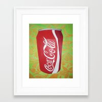 coke Framed Art Prints featuring Coke by Talan Caine
