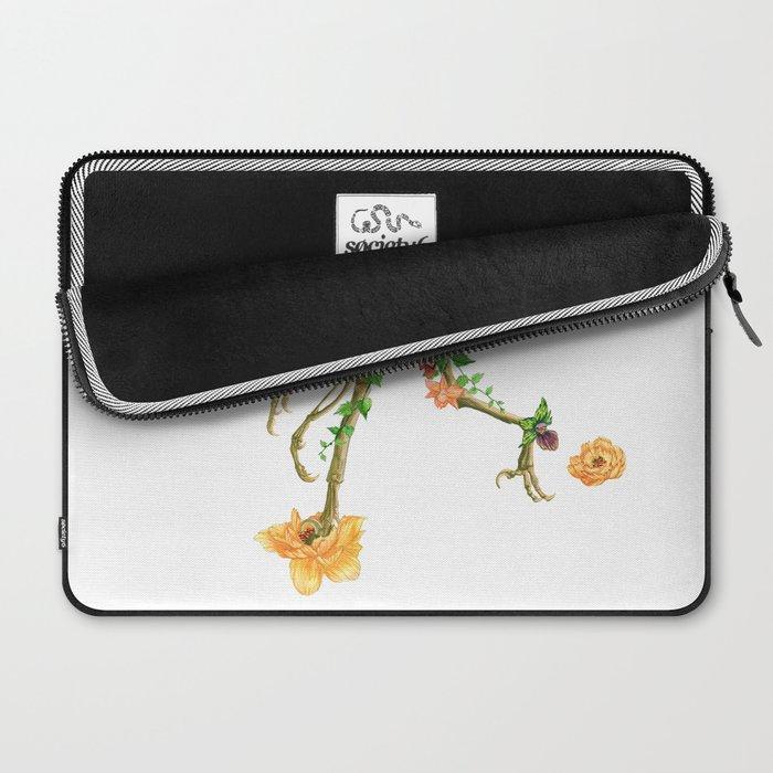 Raptor Orchid Garden Laptop Sleeve