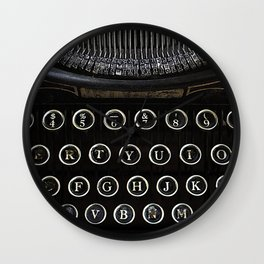 Underwood Typewriter Wall Clock