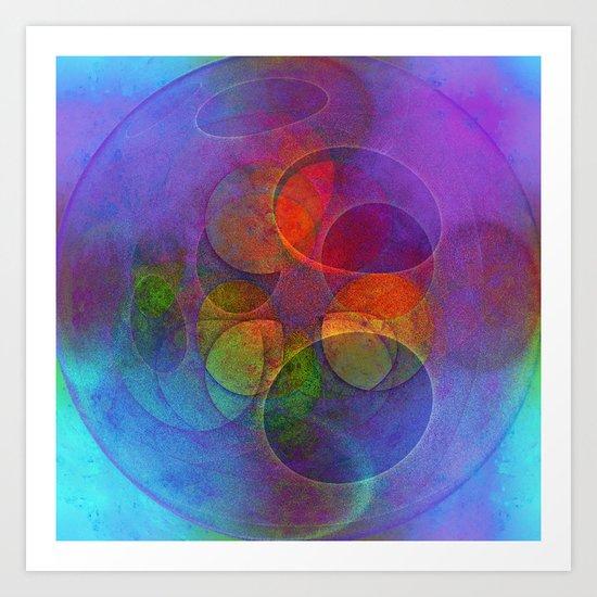 Rainbow Bubbles Art Print