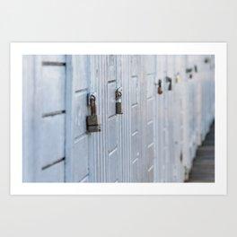 Locked doors Art Print