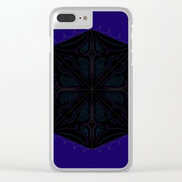 Luxury ornaments blackblue Clear iPhone Case
