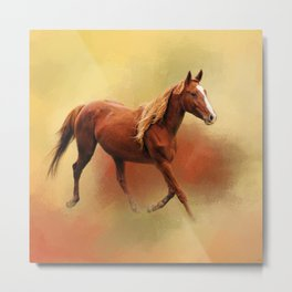 A Dash of Chestnut Mare Metal Print