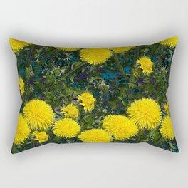 LOVE FIRST SPRING YELLOW DANDELIONS Rectangular Pillow