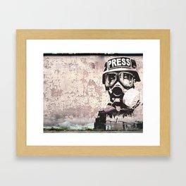 Spray paint - Press gas mask Framed Art Print