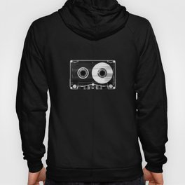 Black and White Retro 80's Cassette Vintage Eighties Technology Art Print Wall Decor from 1980's Hoody