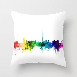 Dublin Ireland Skyline Throw Pillow