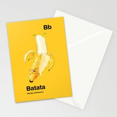 Bb - Batata // Half Bat, Half Banana Stationery Cards
